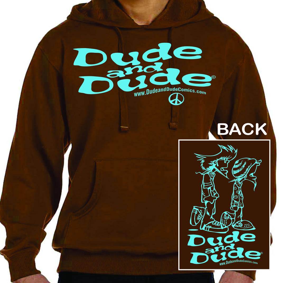 Dude and Dude Brown Hoodie