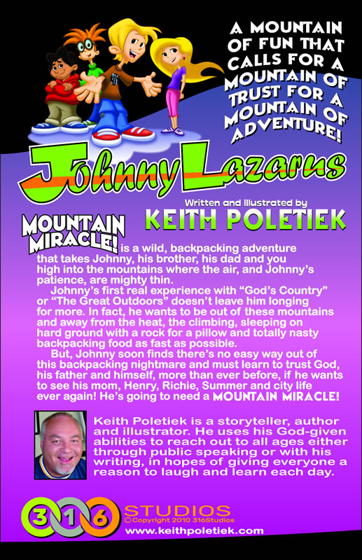 Johnny Lazarus: Mountain Miracle - Back Cover